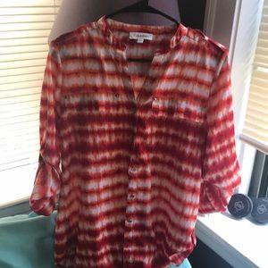 Calvin Klein button down blouse S